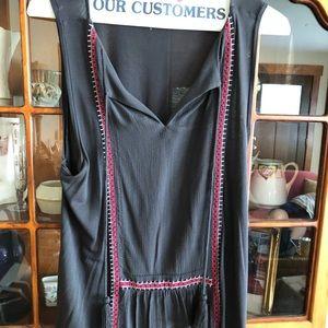 Long loose fitting tank top